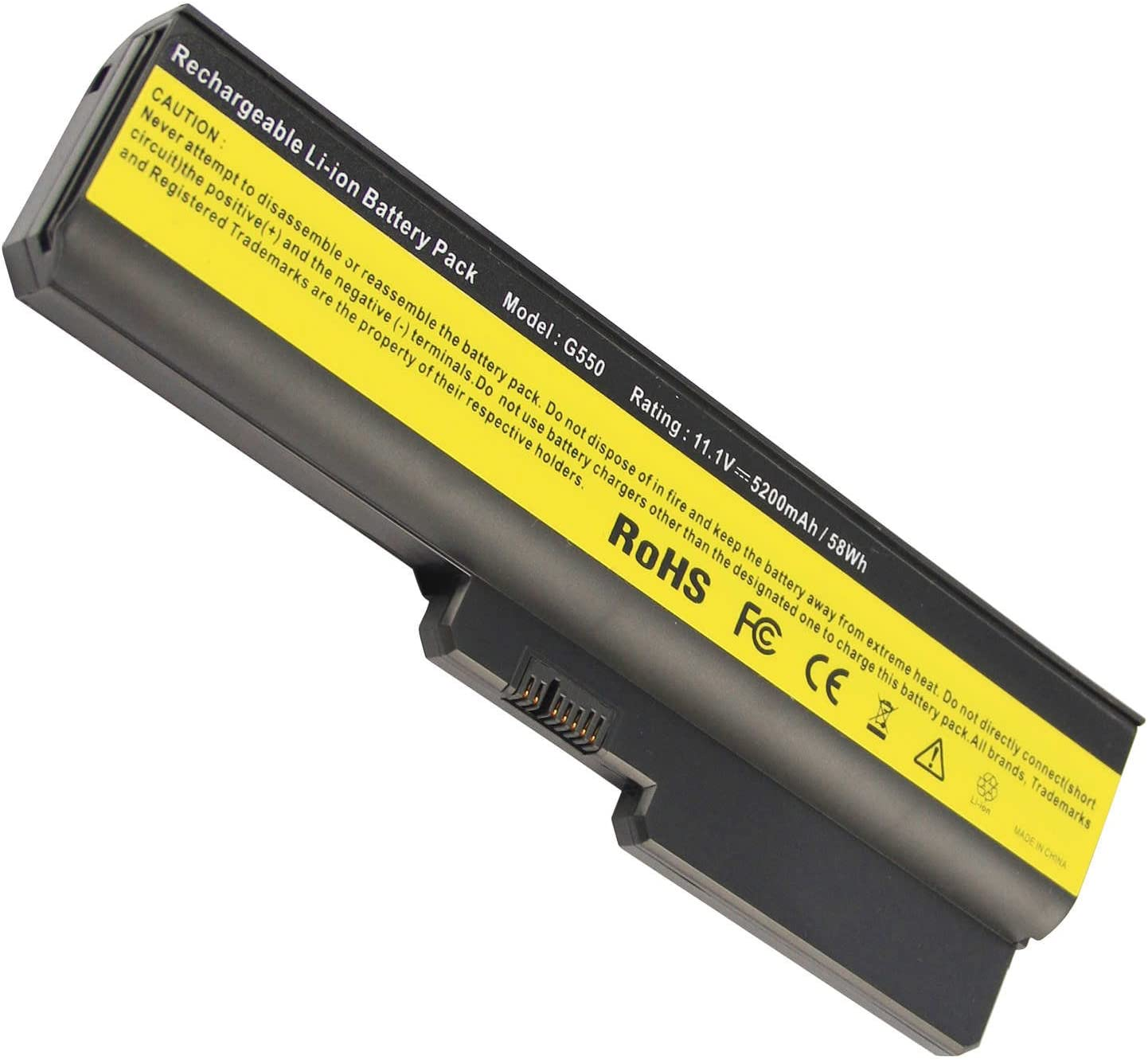 Fancy Buying 6-Cell Laptop Battery for Lenovo IdeaPad 3000 G530 / DC T3400 / 3000 G555 / 3000 N500 / 3000 N500 4233-52U / G430 /G450/ G455A / G530 / G550,P/N ASM 42T4728 / FRU 42T4585 / FRU 42T4727
