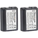 Newmowa NP-FW50 互換 バッテリー 2個 対応機種 Alpha a3000 Alpha a5000 a5100 Alpha a6000 a6300 a6500 Alpha 7 a7 Alpha 7R a7R a7RM2 Alpha 7S a7S NEX-3 NEX-3N NEX-5 NEX-5N aNEX-5 aNEX-5R NEX-5R NEX-5T NEX-6 NEX-7 NEX-C3 NEX-F3 SLT-A33 SLT-A35 SLT-A37 SLT-A55V Cyber-shot DSC-RX10 DSC-RX10M3 DSC-RX10M2 ILCE-QX1