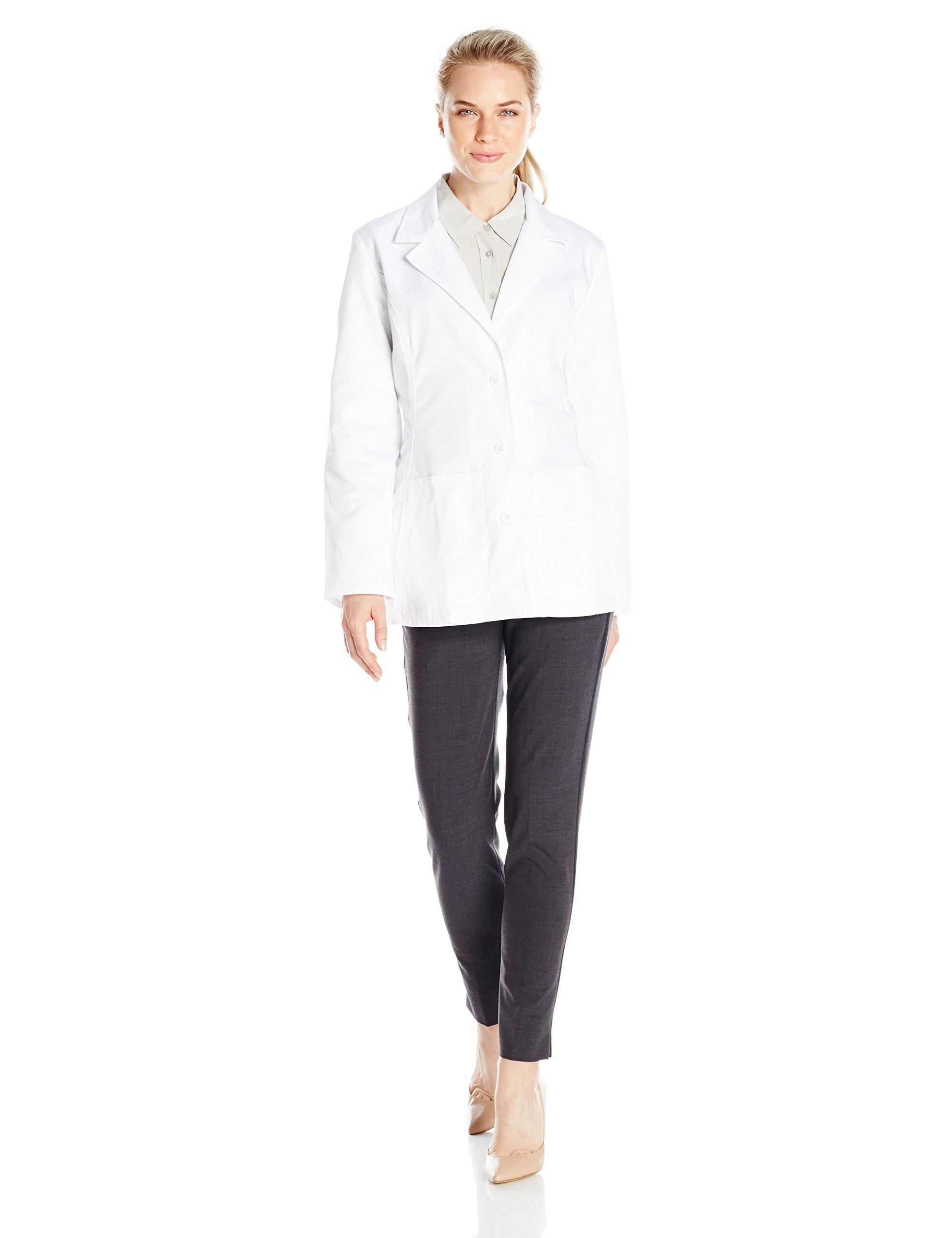 Cherokee Women's Fashion 28'' Lab Coat, White, Large