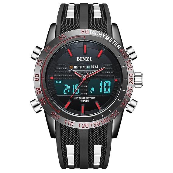 Reloj deportivo impermeable para hombres Actividad Fitness Tracker Reloj digital Reloj casual para Unisex: Amazon.es: Relojes