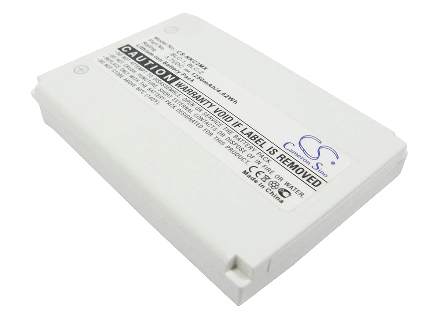 1250mAh Replacement Battery for Nokia 1221, 3390, 3395, 3410 VINTRONS