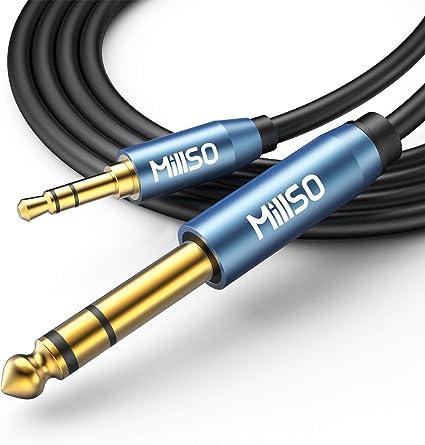 0,3M MillSO Audio Adapter 6.35mm Klinkenstecker auf 3.5mm Klinken Buchse