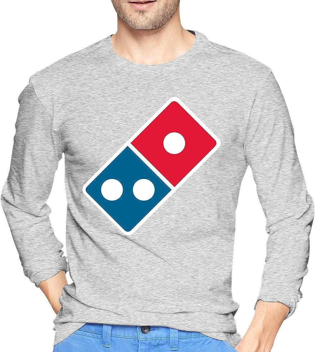 Xuankeke Domino's_Pizza_Logo Round Collar Tunic Top Sweatshirt for Men