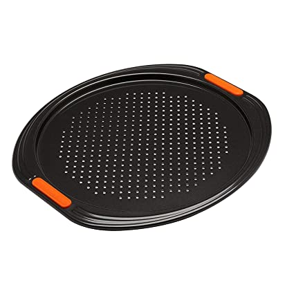 Amazon.com: Le Creuset Toughened Non-Stick Bakeware Pizza Pan, Black ...