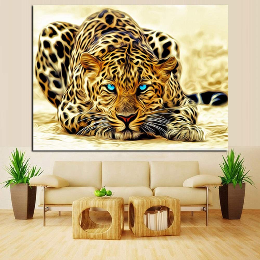 tzxdbh Digital HD Print Leopard Watching for Prey Animal ...