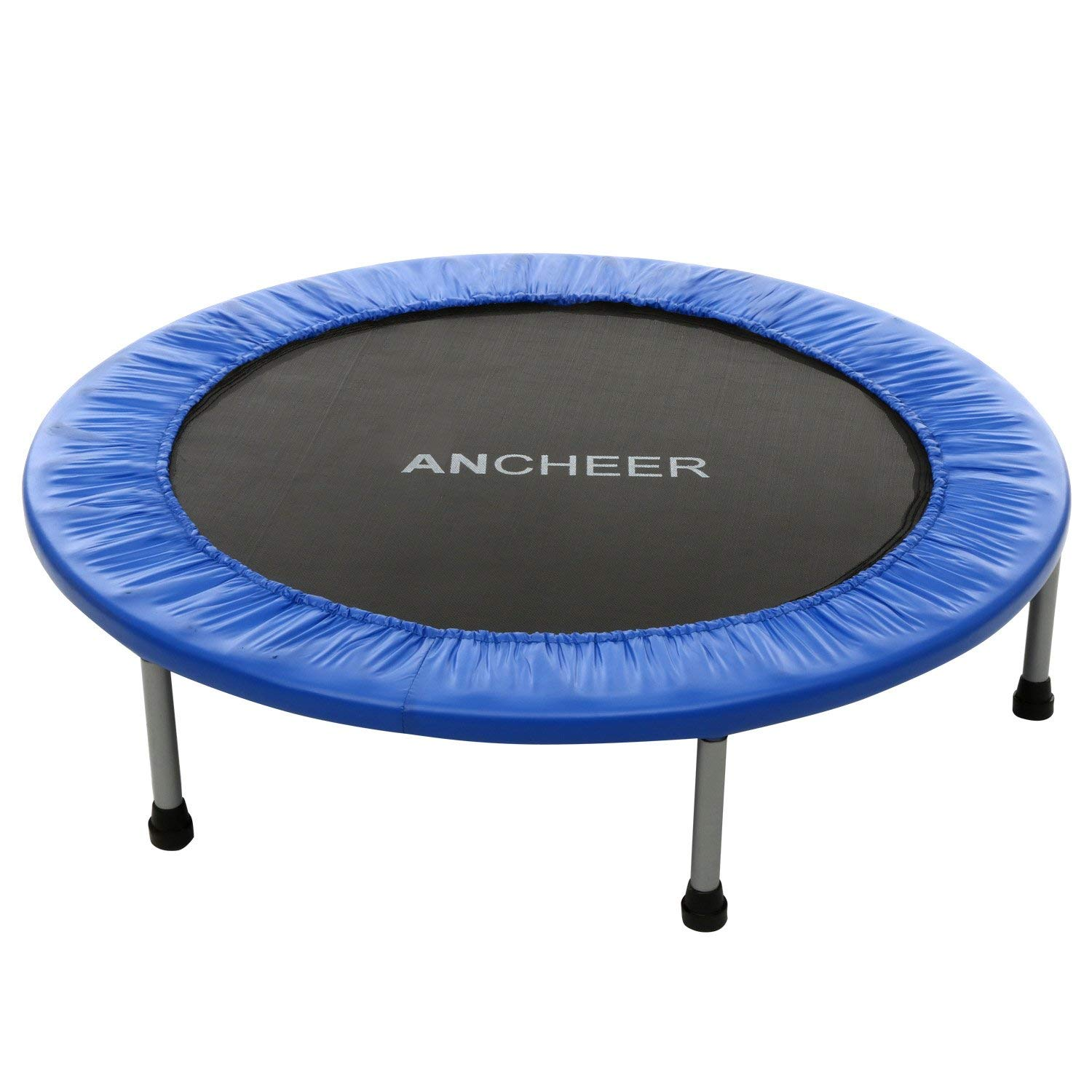 ANCHEER Max Load 220lbs Rebounder Trampoline with Safety Pad for Indoor Garden Workout Cardio Training (2 Sizes: 38 inch/40 inch, Two Modes: Folding/Not Folding) (Renewed)