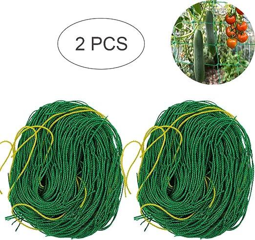 2 Piezas Red Trepadora de Plantas Malla Enrejada para Plantas Trepadoras Red de JardíN de Nylon Red de Soporte Enrejado para el Cultivo de Guisantes/Vid/ Plantas Trepadoras/Frutas y Verduras, 1.8x1.8m: Amazon.es: Jardín