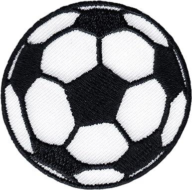 Balón de fútbol - Blanco y Negro - bordado para planchar o coser ...