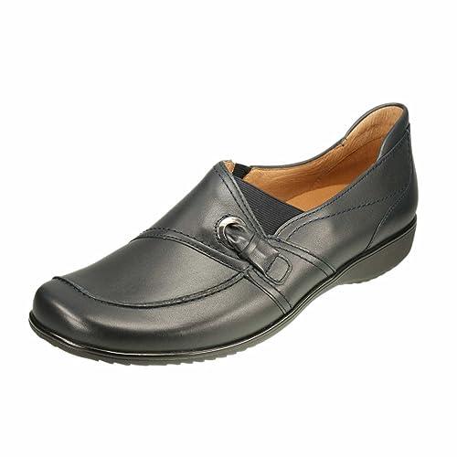 ara 12-32702-02 Andros - Mocasines de Piel para Mujer Azul Blau Weite H 38, Color Azul, Talla 41: Amazon.es: Zapatos y complementos