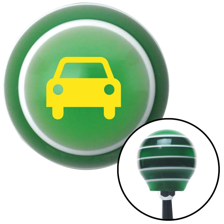 American Shifter 129463 Green Stripe Shift Knob with M16 x 1.5 Insert Yellow Car