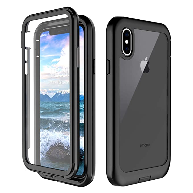 new style fdf18 ffae2 iPhone XS Case, iPhone X Case, Singdo Built-in Screen Protector Cover 360  Degree Protection Shockproof Case Compatible with iPhone XS/X (5.8 inch)