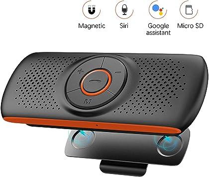livraison gratuite Clairance de 60% arrive NETVIP Kit Mains Libres Bluetooth 4.2 Portable Voiture avec Instruction  GPS,Musique, élimination du Bruit, Instalation sur Pare Soleil, Handsfree  ...