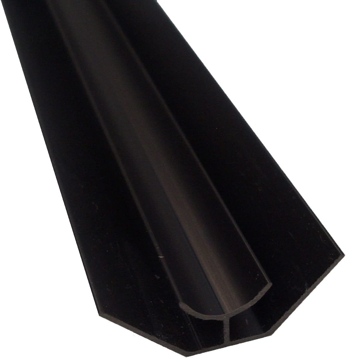 Black Panel Trim Perfect for Bathroom Kitchen Shower Wall PVC Cladding Panels-5mm Internal Black Edging Trim-100/% Waterproof-Use with Claddtech Adhesive