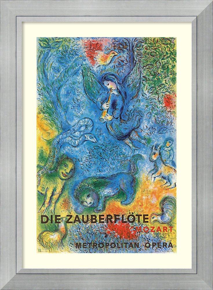 アートフレーム印刷' Die Zauberflote ( The Magic Flute : Metropolitan Opera ) ' by Marc Chagall Size: 37 x 51 (Approx), Matted ブルー 3801512 Size: 37 x 51 (Approx), Matted Romano Silver,mat:white B01L8K6CL6