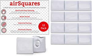 AirSquares Gunk Remover for AirPods and Other Electronic Devices (12 Pack). Gets rid of Ear Wax and Other goo in Any Device with Small crevices. Compatible with Apple AirPods/Earphones/Earbuds/Ear