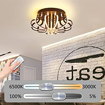 Lámpara De Techo LED Moderna Regulable Lámpara De Techo ...