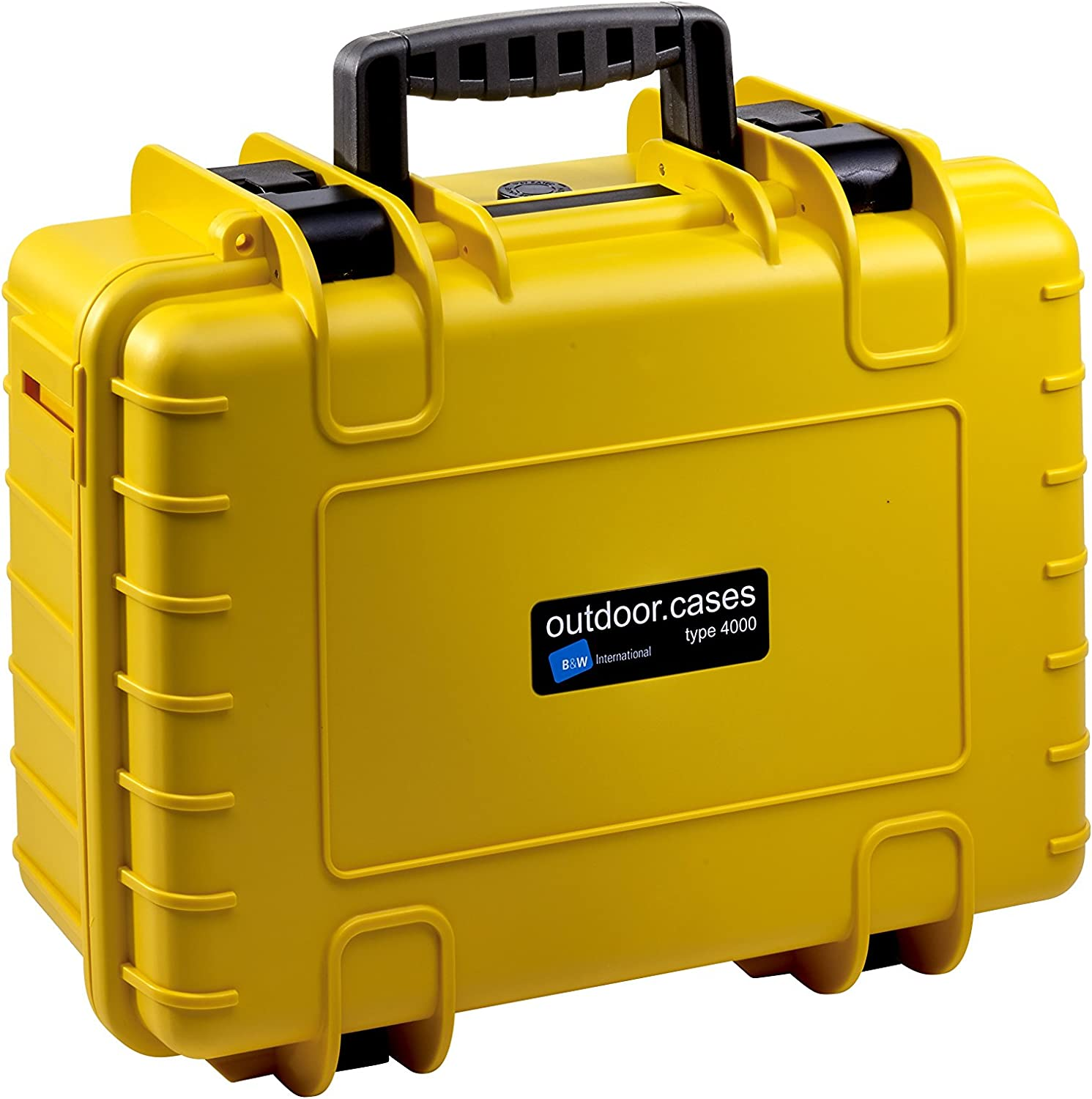 Yellow B/&W International 4000//Y//RPD 4000 Outdoor Case with RPD Insert Durable Type