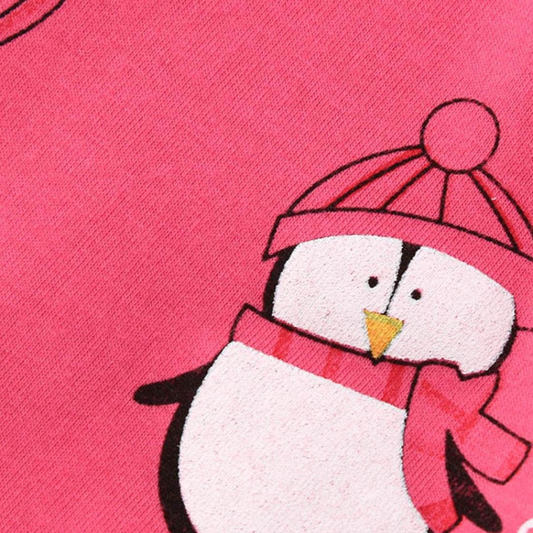 Colorful TM Kids Baby Girls Boys Penguin Print Long Sleeve Tops Pants Pajamas Sleepwear Outfits For 2-7 Years Old