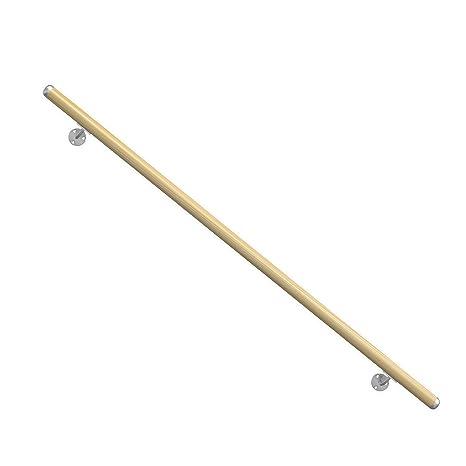 Dübelbefestigung Durchmesser: 42 mm Buche roh 2 Endkappen für Handlauf