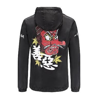 de84abdae CLANMILUMS Men's Outdoor Windproof Hooded Zip-up Lightweight Windbreaker  Jacket (Small, Black)