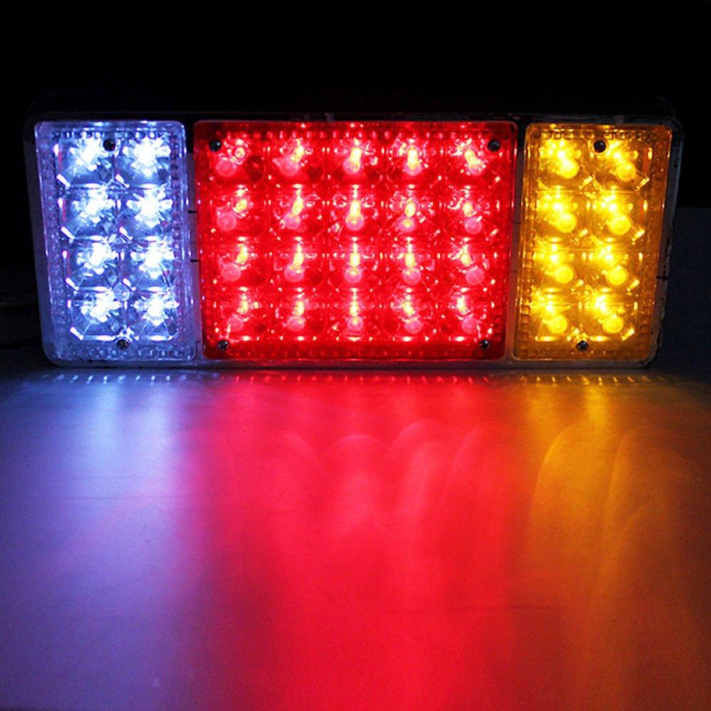 2 x wasserdichte 36 LED Rücklichter Anhänger hinten Schwanz Licht ...