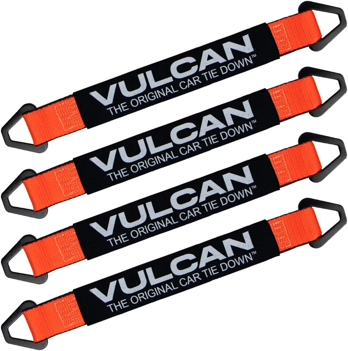 4 PROSeries VULCAN Complete Axle Strap Tie Down Kit with Snap Hook Ratchet Straps 22 Axle Straps, Includes 4 4 36 Axle Straps 8 Snap Hook Ratchet Straps and