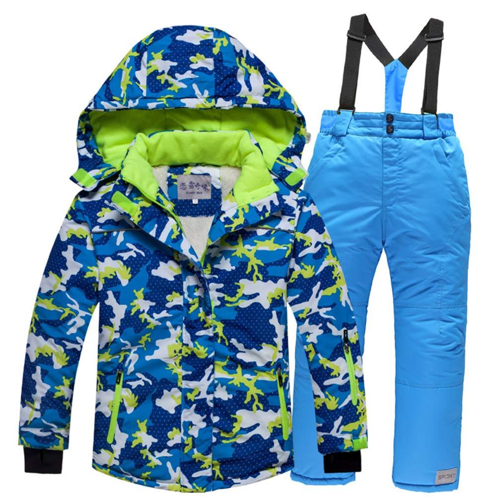 LPATTERN Enfants Manteau de Ski 2 Pièces Salopette Veste Sport Hiver Q76309