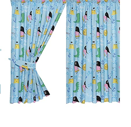Character World Peppa George Pirate Curtains With Tie Backs, 72 Inch