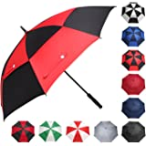BAGAIL Golf Umbrella 58/62/68 Inch Large Oversize Double Canopy Vented Windproof Waterproof Automatic Open Stick Umbrellas for Men and Women