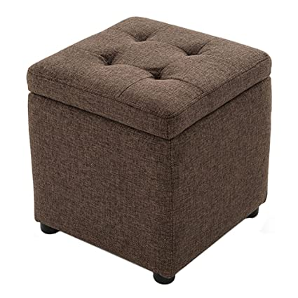 Strange Amazon Com Storage Stool Lxf Ottomans Linen Material Foot Creativecarmelina Interior Chair Design Creativecarmelinacom