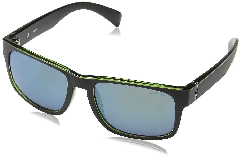 Sting Ss654, gafas de sol para Hombre, Verde (SHINY BLACK ...