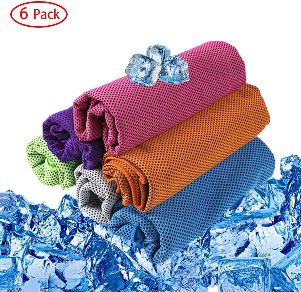 """Cooling Towel - Ice Towel Sport Cold Towels Soft Breathable Gym Chilly Towel, Use as Neck Headband Bandana Scarf, Instant Cooling Microfiber Towel for Yoga Camping Golf Travel Running - 31""""x12"""""""