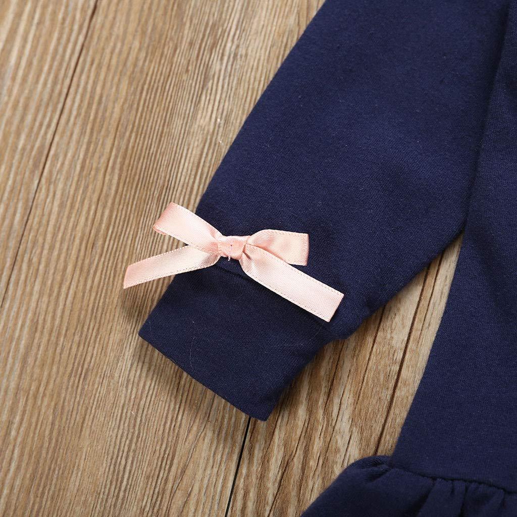 BeautyTop Baby M/ädchen Kleidungs Set 2 St/ück Baby Toddler Kinder Langarm Herzform Drucken Tops Volants Pullover Prinzessin Kleid