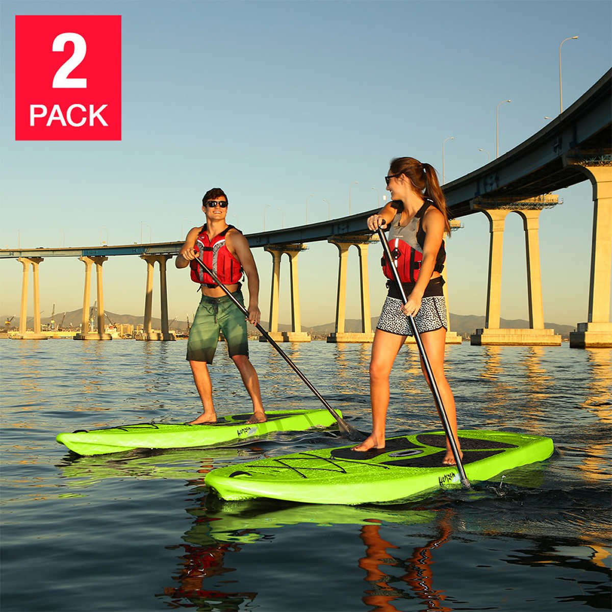 Lifetime 10 Hardshell Horizon Stand Up Paddle Board 2-pack