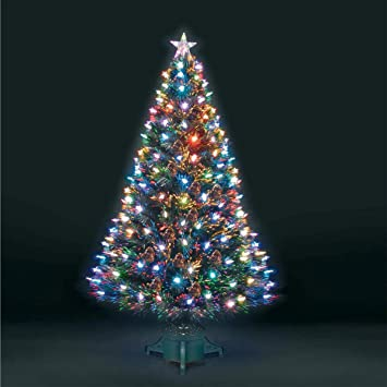 3ft/90cm Superstar Green Fibre Optic & LED Christmas Tree: Amazon ...