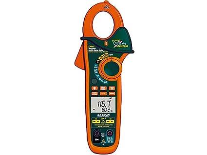 Extech EX613 Medidor de pinza de 400 A con entradas dual tipo K y termómetro IR