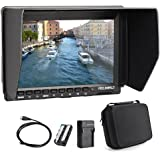 Feelworld FW759 7 Inch On-Camera Field Video Monitor with 2200mAh Battery Pack and Carrying Case - 1280x800 Resolution, Wide View Angle IPS Panel, 400cd/m2 Backlight and 800:1 Contrast Ratio
