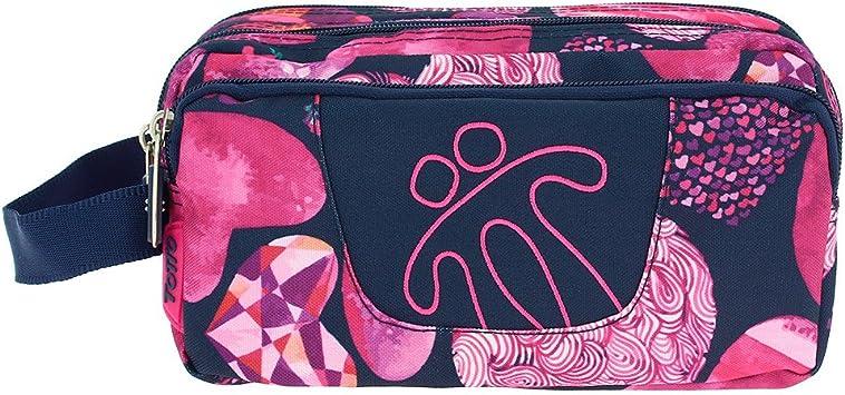 TOTTO Agapec AC52ECO009-1720Z-5L0 Estuche Escolar Tres Compartimentos, 23 cm, Morado (5L0): Amazon.es: Oficina y papelería