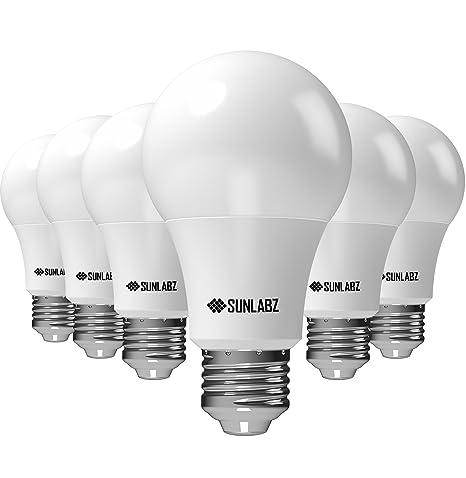 Bombillas LED SunLabz de ahorro de energía – A19, blanco suave, equivalente a 60