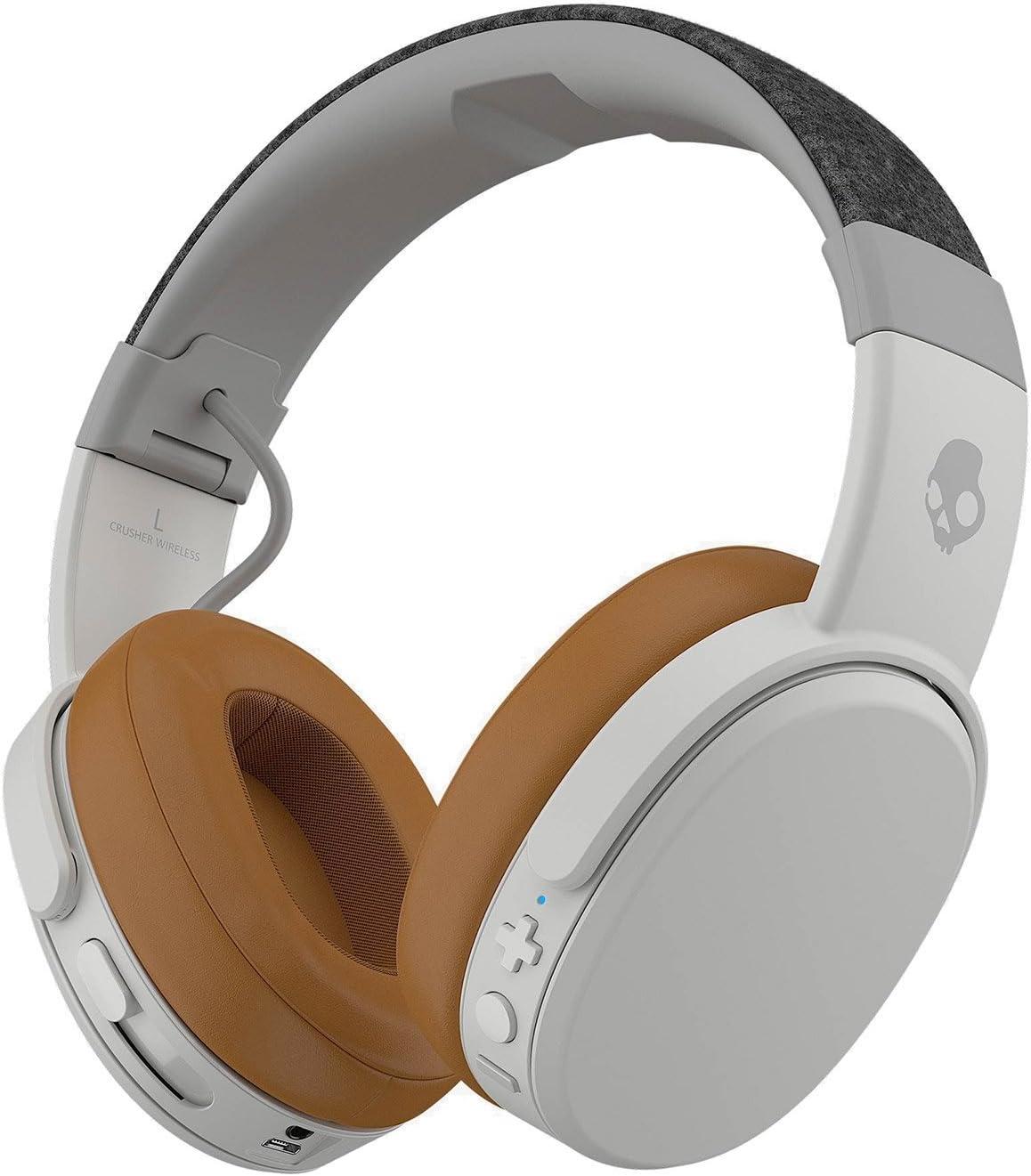 Skullcandy Crusher Wireless Over-Ear Headphone - Gray/Tan: Electronics