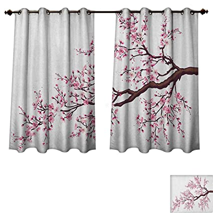 Amazoncom Japanese Blackout Curtains Panels For Bedroom Branch Of
