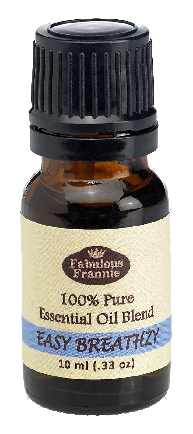 Fabulous Frannie Easy Breathzy Made with Pure Essential Oils Perfect Blend of Eucalyptus, Cajeput and Peppermint 10mL