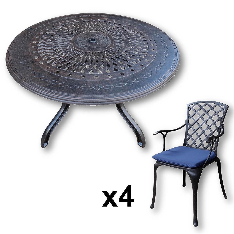 Lazy Susan Amy 120 Cm Runder Gartentisch Mit 4 Stuhlen