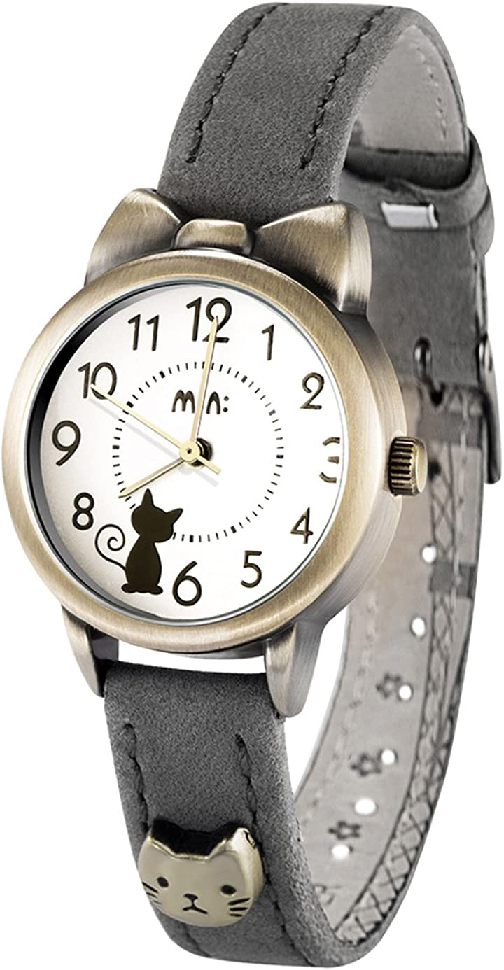 Soft Leather Strap Girl s Students Quartz Wrist Watches for Female Cute Bowknot Case