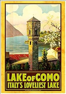 0939054ea2a Vintage Lake Como Italy Tourism Poster A3 Print  Amazon.co.uk ...