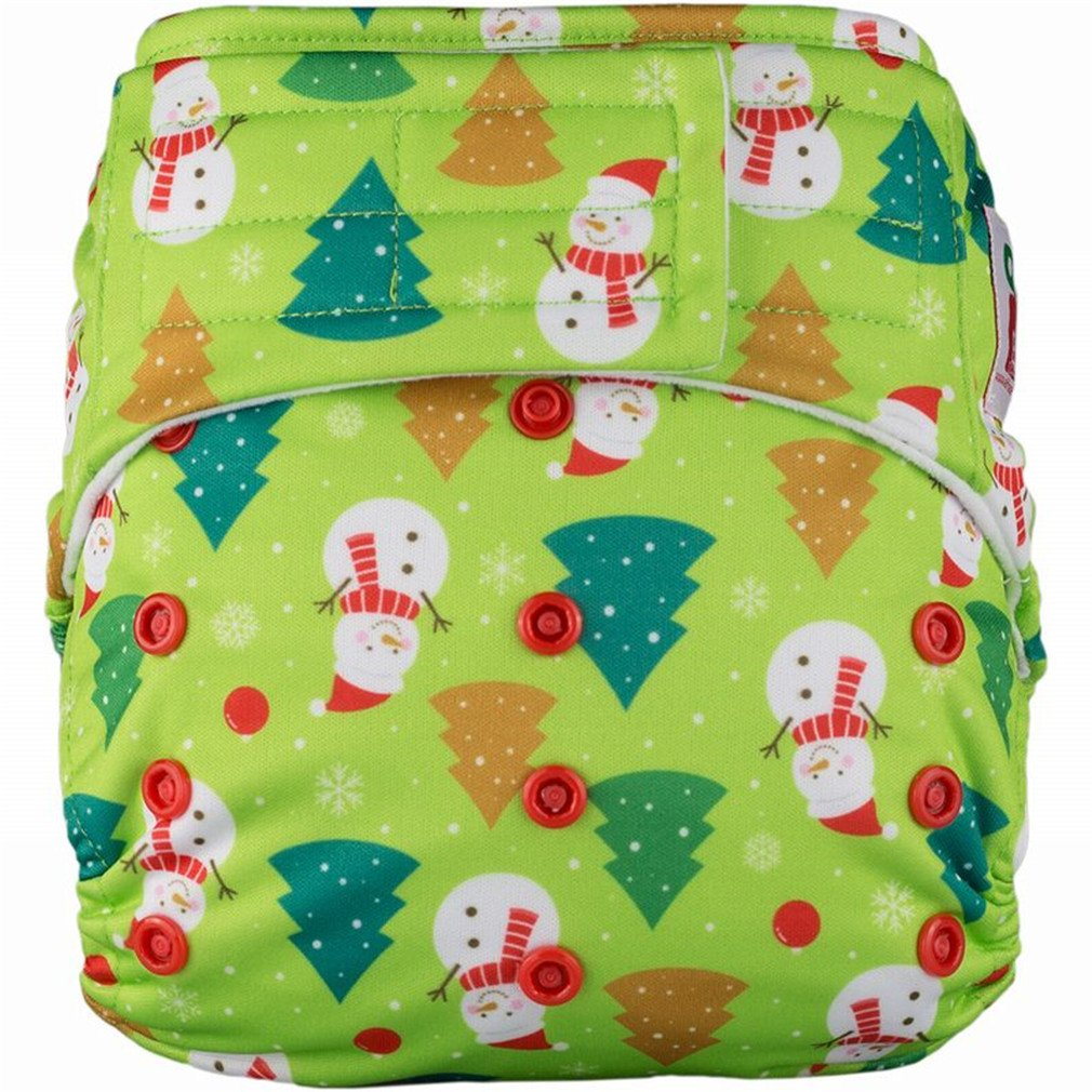 Elf Diaper New Baby Cloth Diapers Hook And Loop Adjustable Boy Girl Newborn Washable Waterproof Reusable Nappies S02Y55 1 Diapers Only