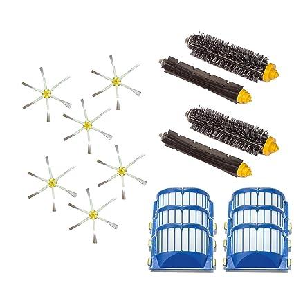 Kit Medium cepillos y filtros AeroVac para iRobot Roomba serie 600 601 602 603 604 605
