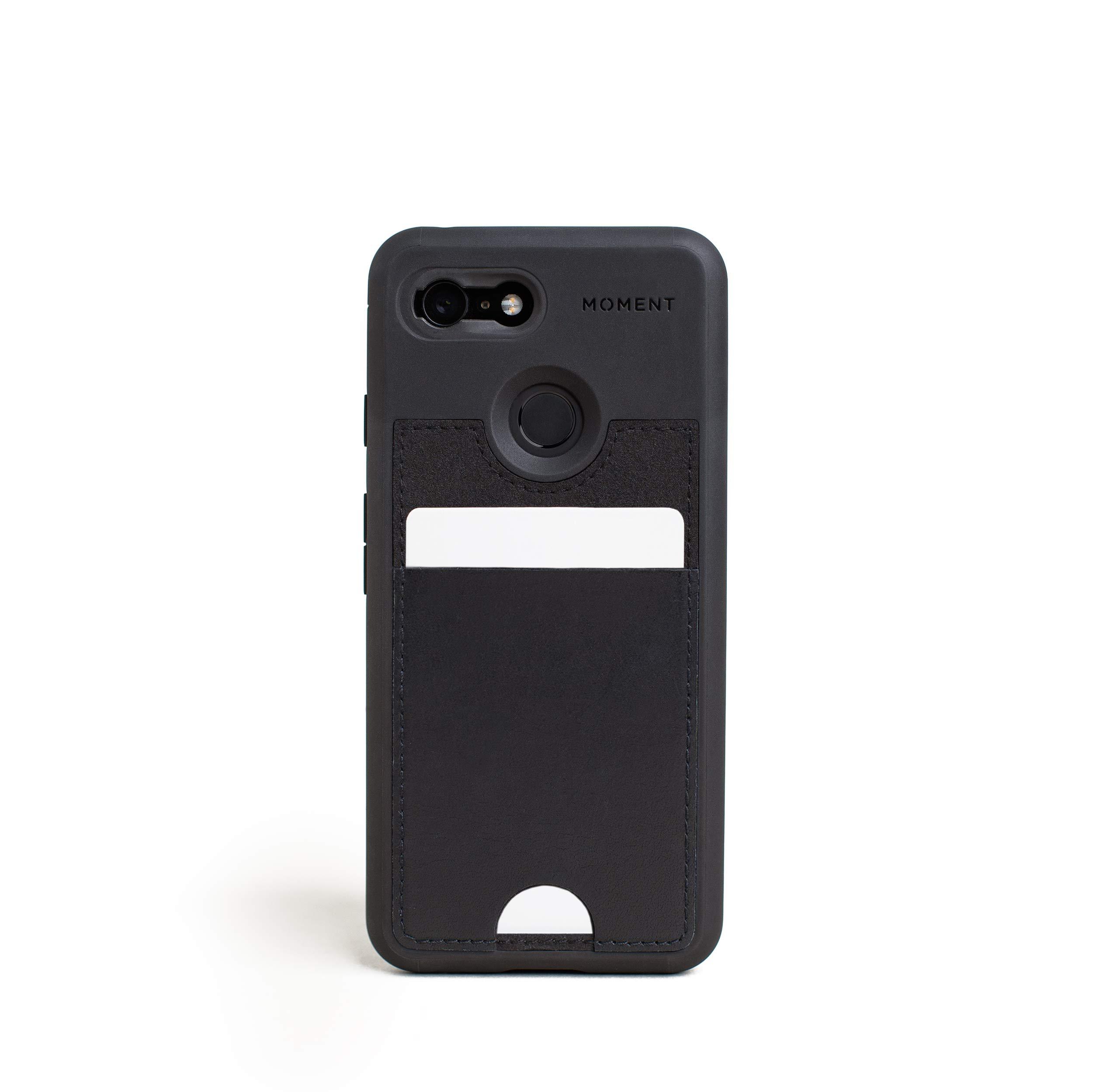 ویکالا · خرید  اصل اورجینال · خرید از آمازون · Pixel 3 Wallet Case || Moment Photo Case in Black Leather - Thin, Protective, Wrist Strap Friendly Wallet case for Camera Lovers. wekala · ویکالا