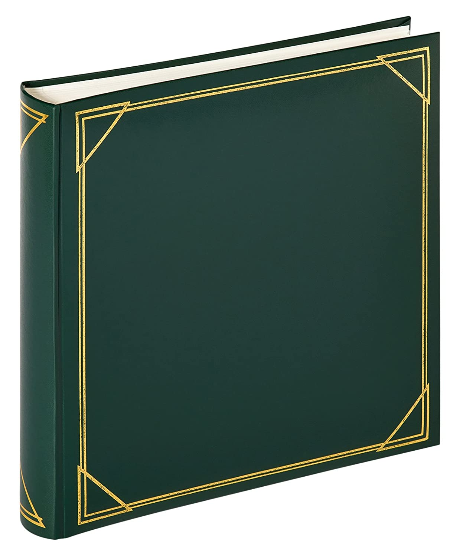 Walther Design MX-200-A Standart Album Fotografico, Verde, 100 Pagine Bianche, 30 x 30 cm