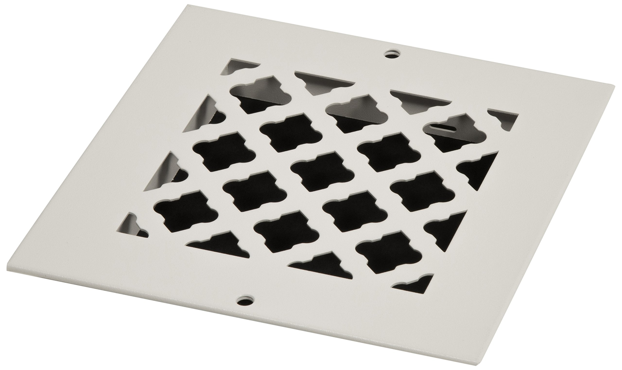 SteelCrest BTU6X6RWHH Bronze Series Designer Wall/Ceiling Vent Cover, with mounting Screws, White